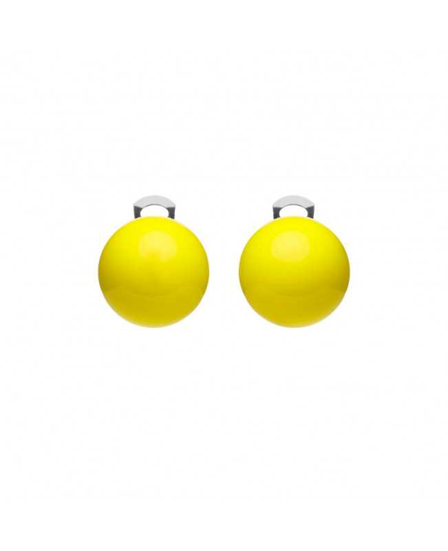 Orecchini Giallo fluo - Ballsmania