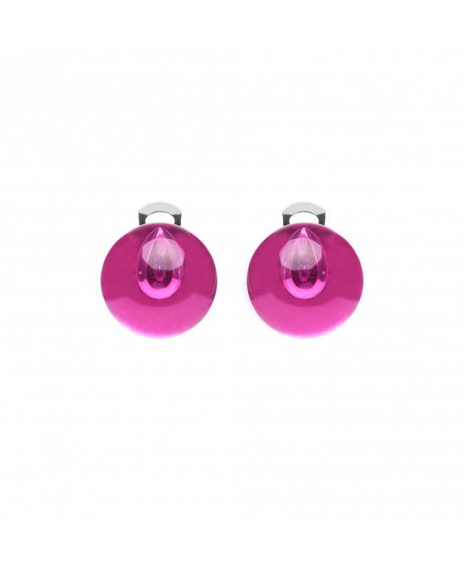Orecchini trasparenti Ballsmania rosa