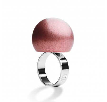 Anello metallizzato Ballsmania rosa
