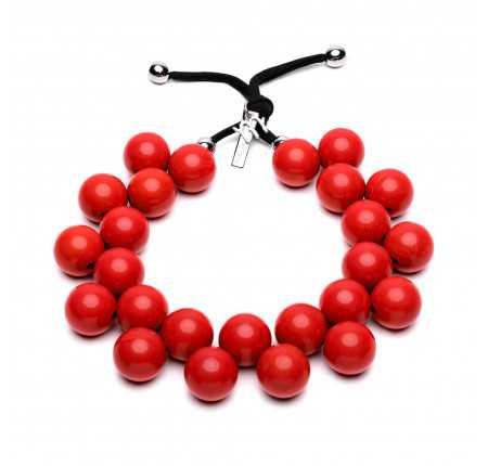 Collana colorata rossa tinta unita Ballsmania