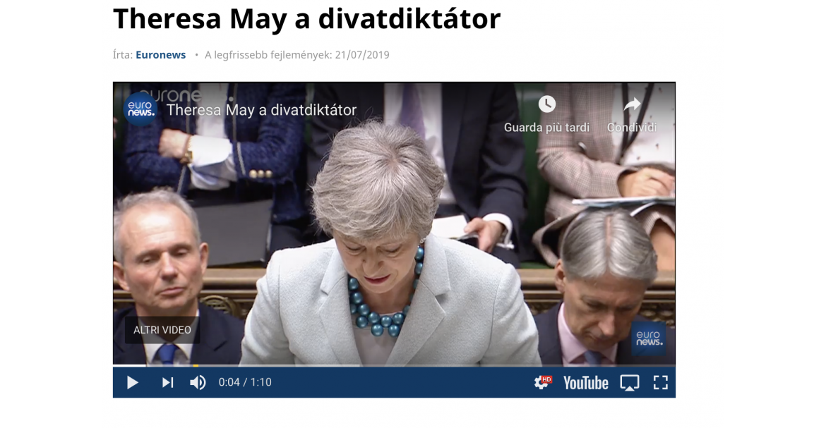 Theresa May a divatdiktátor